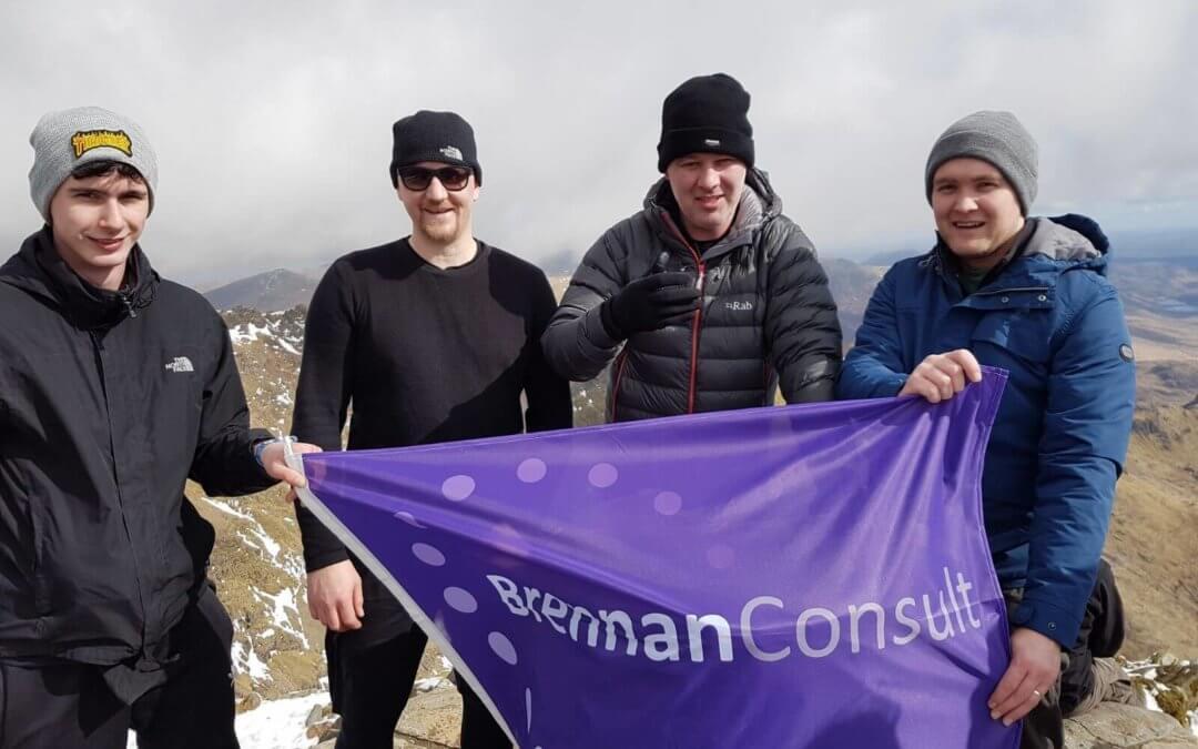 Brennan Consult conquer Snowdon!
